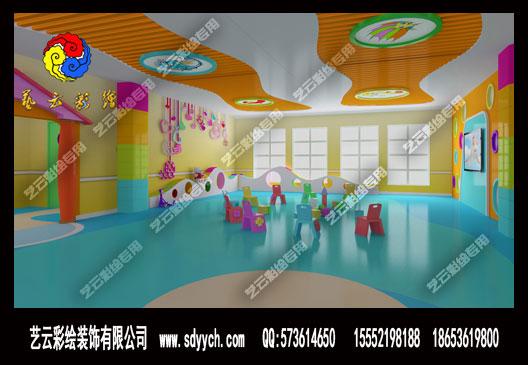 河南漯河许慎幼儿园分园幼儿园室内墙体彩绘
