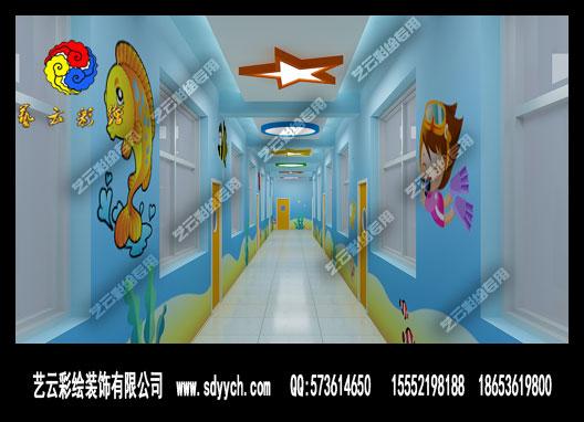 动漫室内走廊场景素材