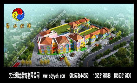 幼儿园整体规划设计主要包括幼儿园主楼彩绘设计