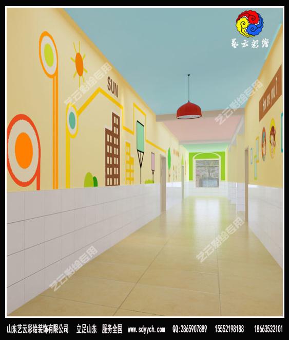 河北沧州幼儿园内墙彩绘装饰作品