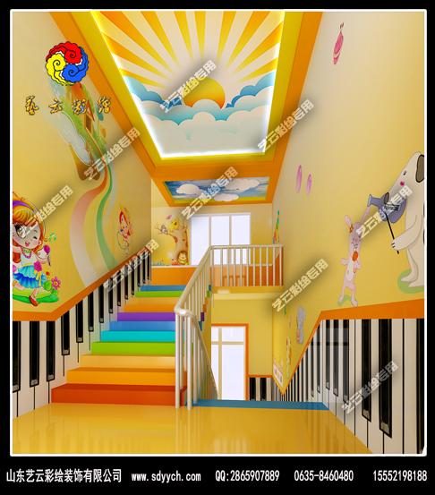 黑龙江哈尔滨幼儿园室内彩绘装饰作品